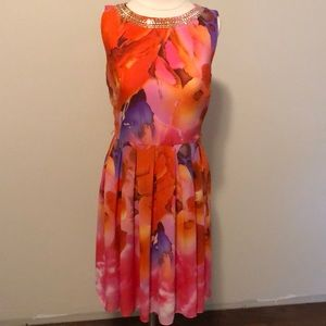 Vibrant watercolor dress
